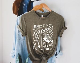 Art Teacher Shirt with Art Supplies, Shirt for Artist with Art Supplies, Art Teacher Shirt, Gift for Art Teacher, Artist Shirt