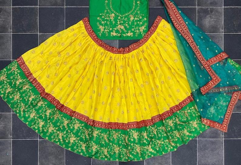 Silk Lehenga Choli Party Wear Anarkali Lehnga Choli For Women Indian Wedding Bridal Lengha Designer Crop Top Stitched Lehenga Blouse