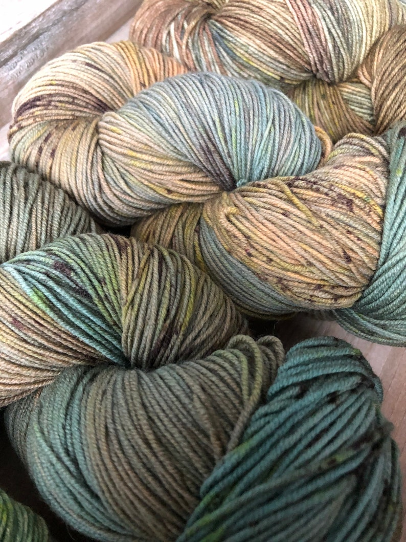 2185yards 5 Skeins on Squishy Sock Base Hidden Pond Yarns One of a Kind Hand Dyed Yarn Fade