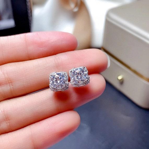 Moissanite Ring Moissanite necklace Moissanite Earring Stud 1ct D Color VVS , Brilliant Hearts & Arrows Cut , Women's Ring, Moissanite set