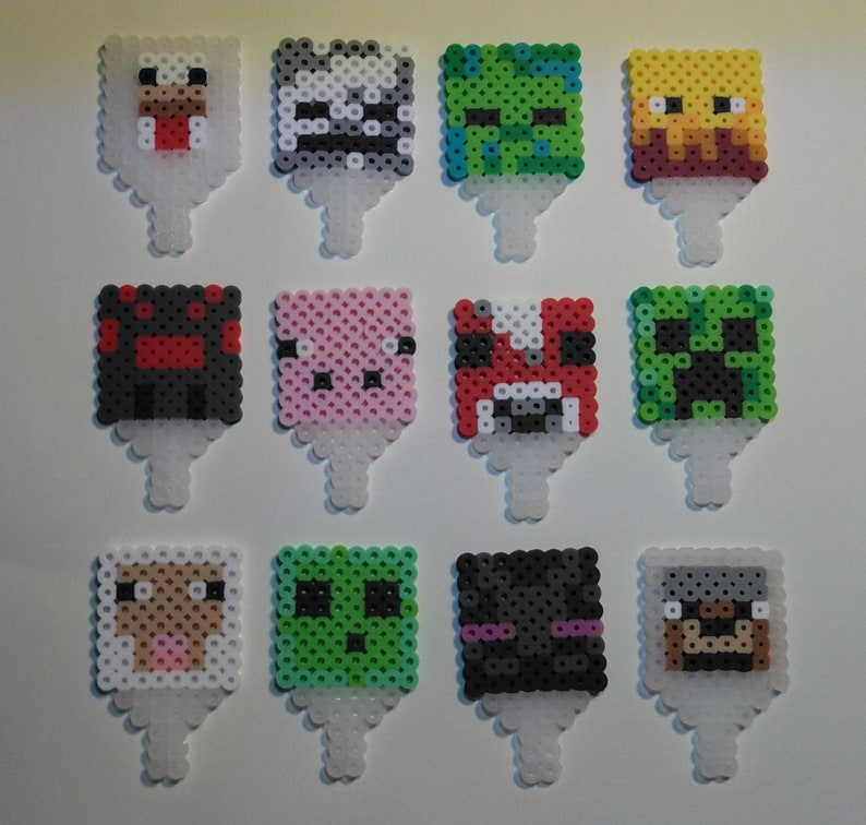 Minecraft Inspired Cupcake Toppers