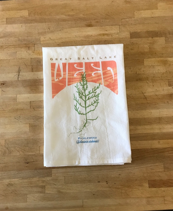 Great Salt Lake Weed Tea Towel