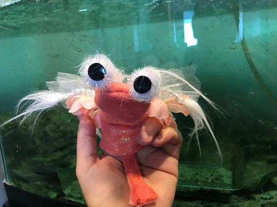 Brine Shrimp Finger Puppet