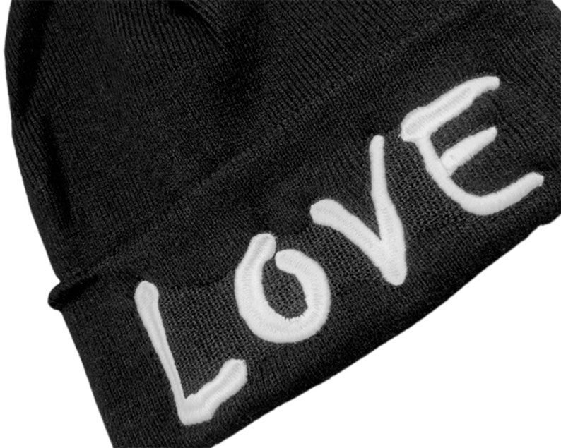 Birthday Party Gift LOVE Inspirational Hat Valentines Love Hat Self Love Beanie Happiness Hat LOVE Embroidered Beanie Best Gift Idea
