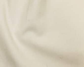 Cream Fabric by the Metre Linen Look Cotton Plain