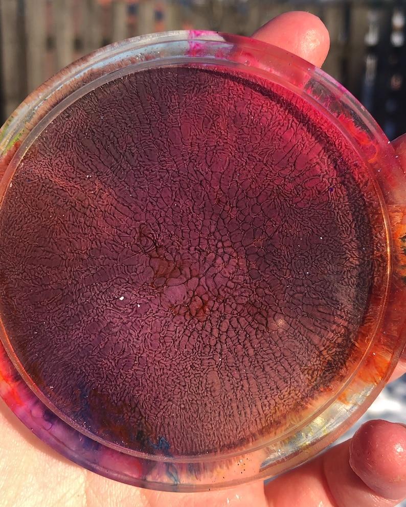 Resin Rainbow Colour Splash Coaster