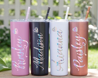 Bachelorette Party Party Favor Bridal Party Bridesmaid Proposal Birthday Personalized Champagne Tumbler for Girls\u2019 Night