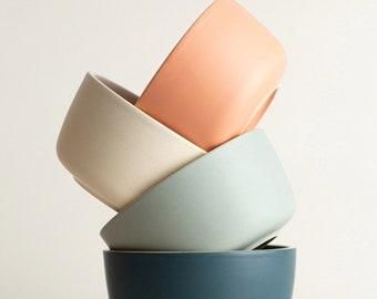 Matte Ceramic Bowls   Hand-Finished Ceramics   Dinnerware   Modern Bowl   Scandinavian Design   Tableware   Ceramic Bowls