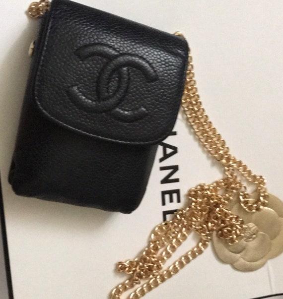 CC LOGO mini cigarette case flap wallet on chain c