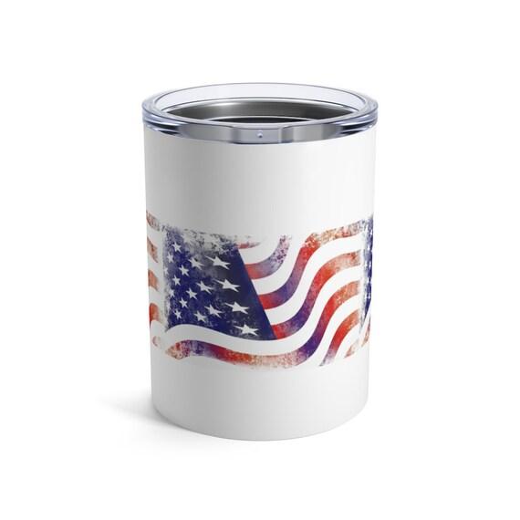 Illinois Tumbler with US Flag 20oz Patriotic Travel Mug