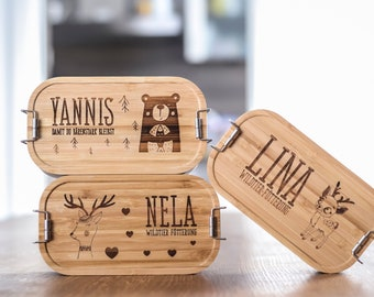 Your design, lunchbox wooden lid with divider,lunchbox personalized,gift,bread box,bread box,lunchbox bamboo, training gift