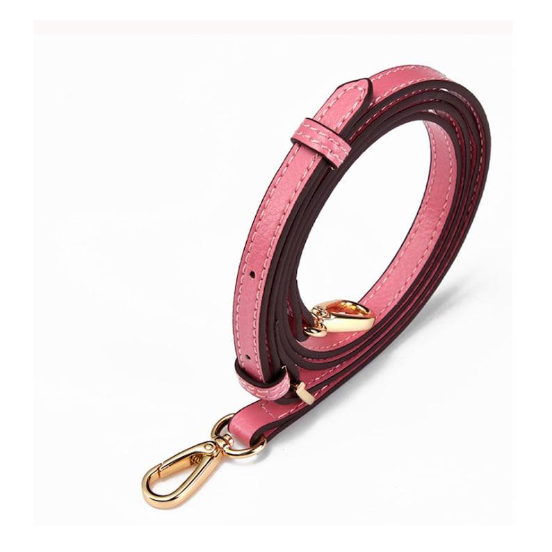 pink leather adjustable bag strap crossbody bag strap shoulder bag strap