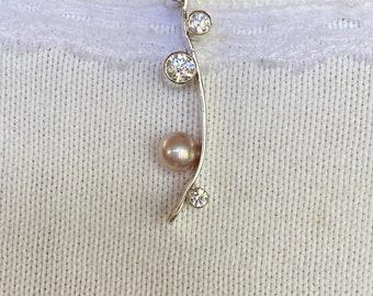 Pearl & Cubic Zirconia Pendant