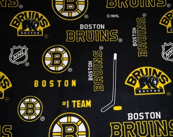 OOP /& EXTREMELY RARE NHL BOSTON BRUINS Cotton Fabric 1//4 to 1//2 YARD