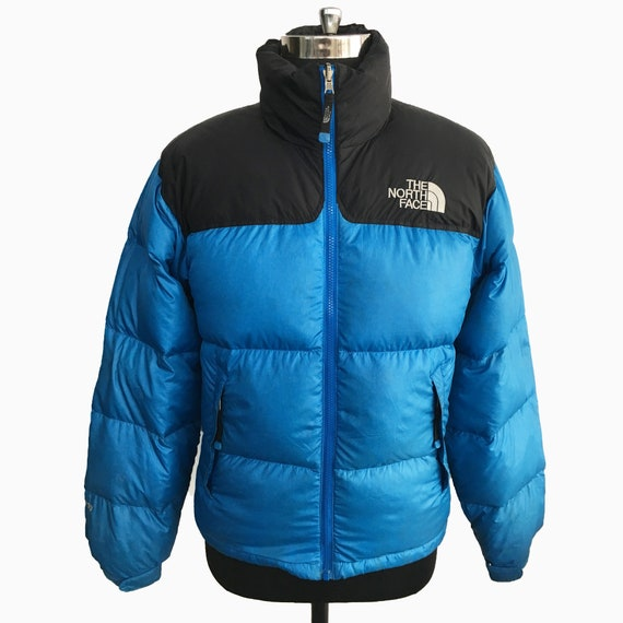 The North Face 700 1996 blue and black nuptse puff