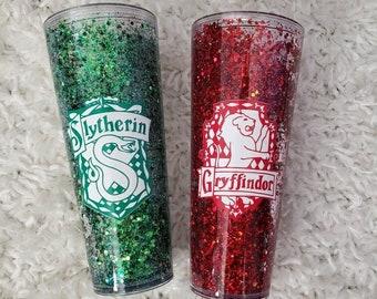 burned book tumbler Ravenclaw glitter tumbler gift for her- Harry Potter tumbler