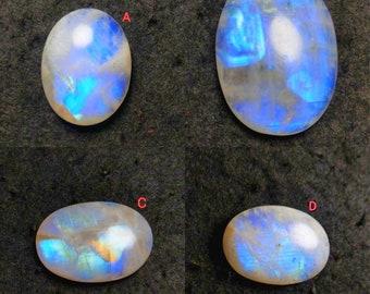 RAINBOW MOONSTONE GEMSTONE,Best quality blue fleshy fire 8x15x6mm pear shape cabochon jewelry making gemstone