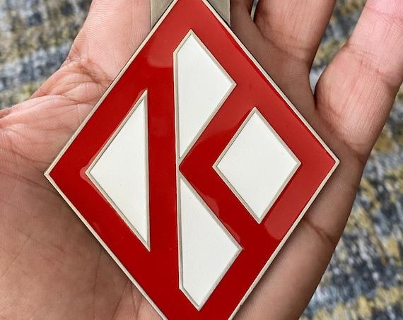 Nupe - Bag Tag - RED Diamond K (Metal) - 3.4 oz.
