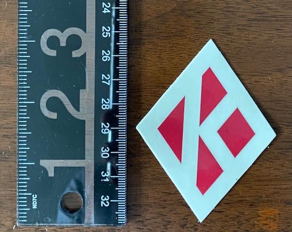 "Nupe - Sticker (Vinyl) 2.32"" x 3"" - Diamond K (Creme/Crimson)"