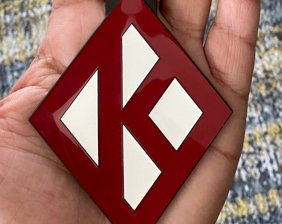 Nupe - Bag Tag - CRIMSON Diamond K (Metal) - 3.4 oz.