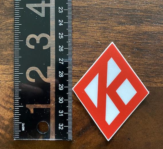 "Nupe - Sticker (Vinyl) 2.32"" x 3"" - Diamond K (Red/White)"