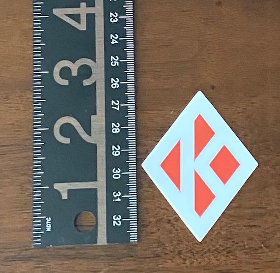"Nupe - Sticker (Vinyl) - 1.98"" x 2.58"" - Diamond K (White/Red)"