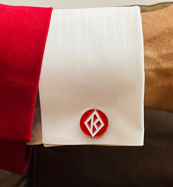 Nupe - TWO (2) Sets of Cufflinks - 'Diamond K' (20mm) - S A L E
