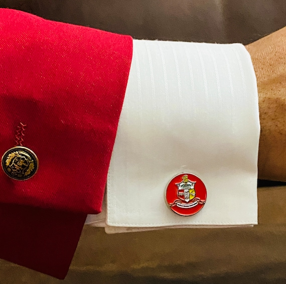Nupe - TWO (2) Sets of Cufflinks - 'Coat of Arms' (20mm) - S A L E