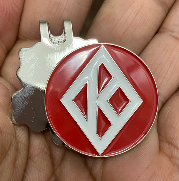 Nupe - Ball Marker with Hat Clip - Diamond K Ball (35mm)