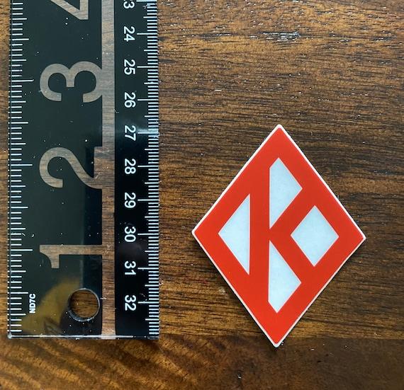 "Nupe - Sticker (Vinyl) - 1.98"" x 2.58"" - Diamond K (Red/White)"