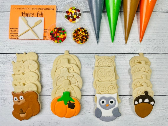 Fall Thanksgiving Cookie Decorating Kit Happy Fall Cookie