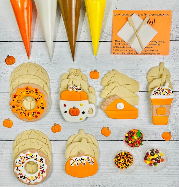 Fall Cookie Kit Pumpkin Coffee Shop Extra Large Cookies