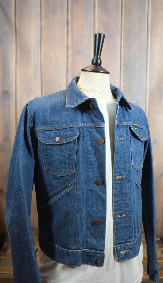 vintage 70's Maverick blue bell denim jacket