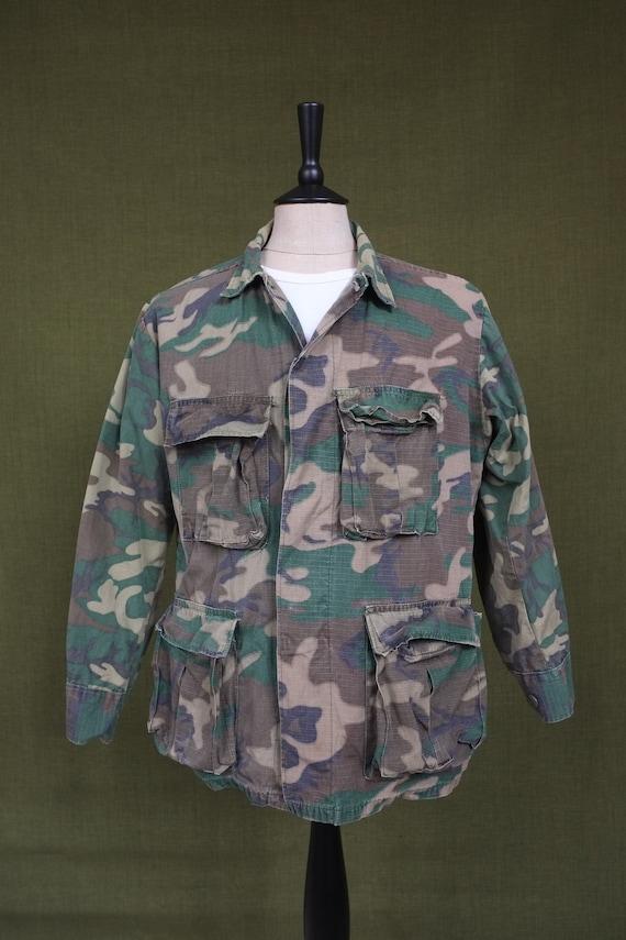 Vintage Camouflage Military Field Jacket