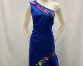 MEXICAN DRESS, short dress, handmade dress, embroidered dress, typical dress, regional dress, ideal for a Mexican party