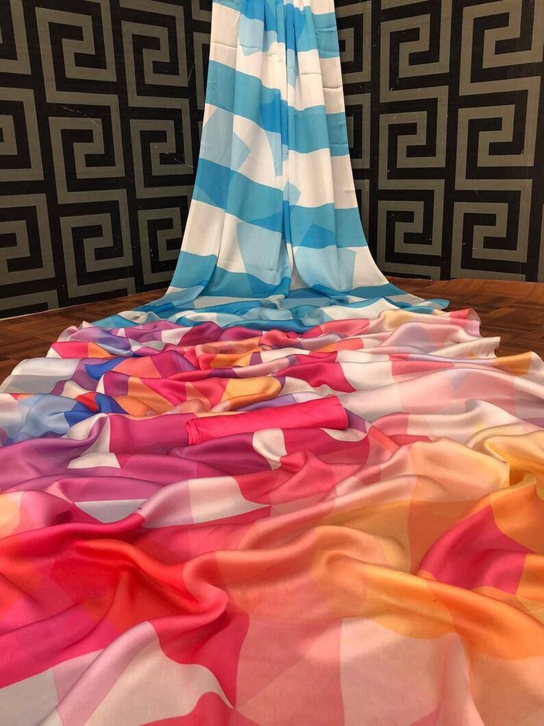 white saree Imported Silk Sartin saree and blouse for women,saree,saree for women,designer saree,indian saree,wedding saree,sari,saris