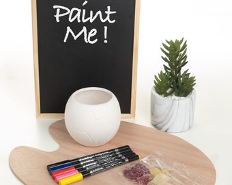 Paint your own Ceramic Football Mug Kids Craft Kit with Felt-tips and Vegan Jellies