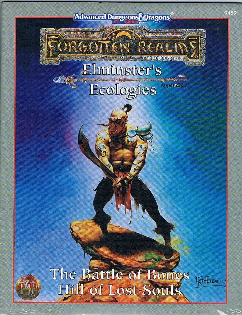 Elminster/'s Ecologies Hill of Lost Souls Appendix 1: The Battle of Bones Advanced Dungeons /& Dragons 2nd Edition Forgotten Realms
