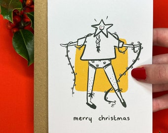 Cute Pants Christmas Card (Made from 100% Recycled Paper)