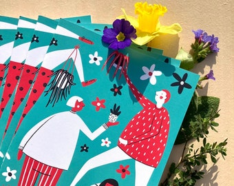 A4 Handmade Notebook (upcycled exercise books)