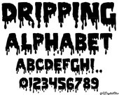 Dripping Font SVG, Dripping Alphabet, Dripping Cut Files, Svg Files for Cricut and Silhouette, Dripping Letters , Png,Eps,Svg,Ai,Jpg