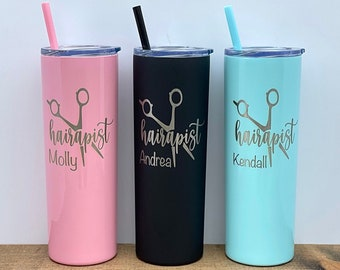 Hairdresser Tumbler Hair Stylist Tumbler Glittered Hairstylists Give the Best Blow Jobs Tumbler Beautician Tumbler Hairstylist Tumbler