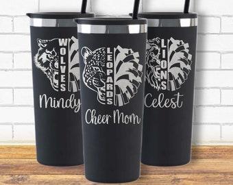 Cheerleading Coach Tumbler-Cheer Mom-Cheer Life-School Mascot-School Spirit-Cheerleader Gift