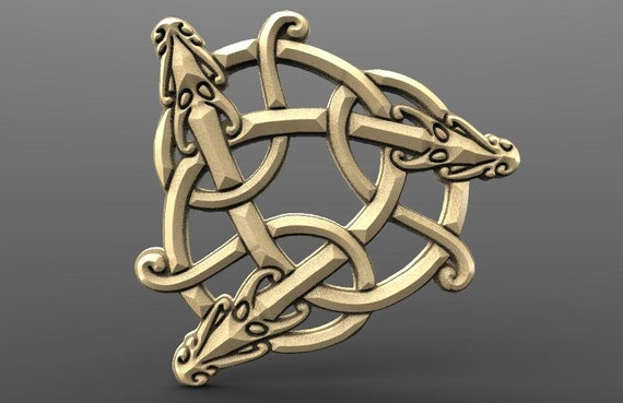 Digital file viking dragon cnc STL model