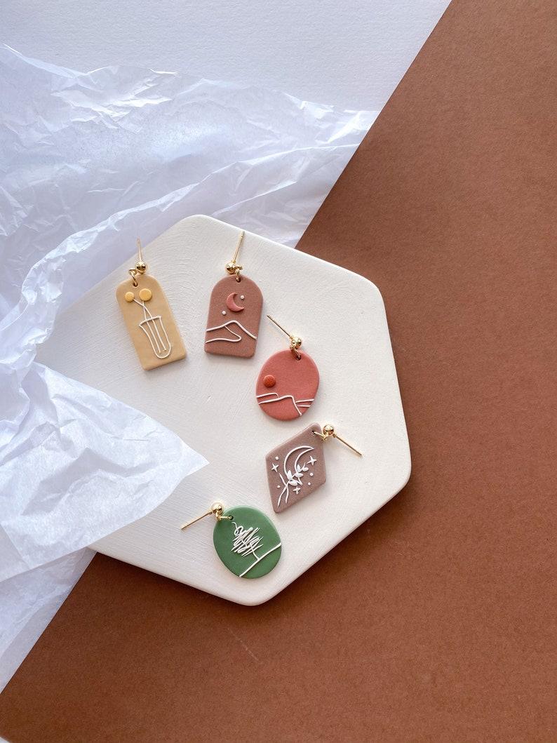 THE LINEEveryday earrings polymer clay earrings simple image 0