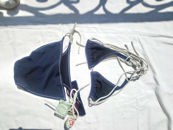Swimwear Reebok Vintage 70s 80s Navy Blue - image 3