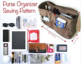 Handbag insert Pattern, Handbag Organizer insert, Purse organizer insert, Bag organizer insert, Tote bag organizer,