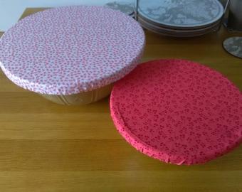 Cotton fabric bowl cover. Various Sizes. Reusable. Eco friendly.