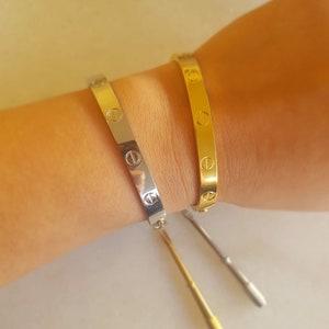 Braided bracelet 18k gold plated titanium braided band bangle women opened bracelet