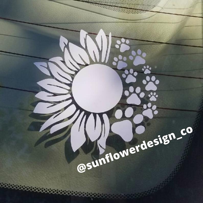 Download Sunflower Paw Print SVG | Etsy